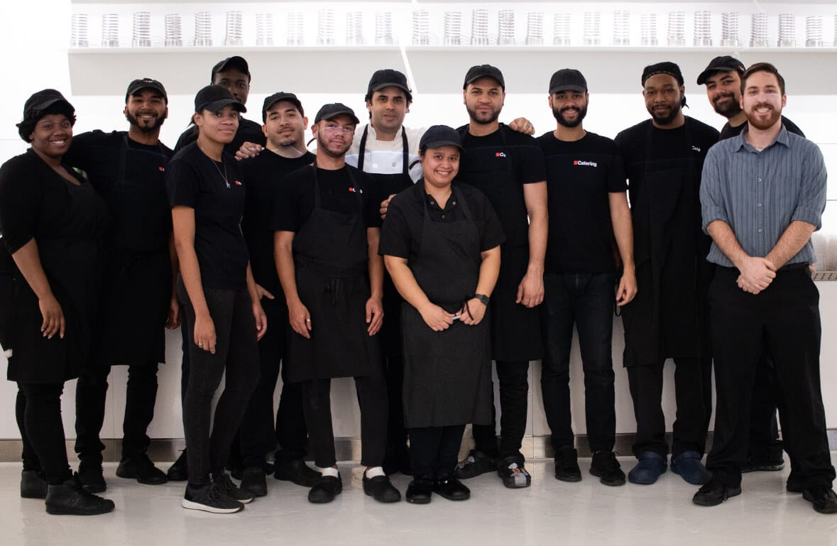 Photo of Dartcor corporate dining team members