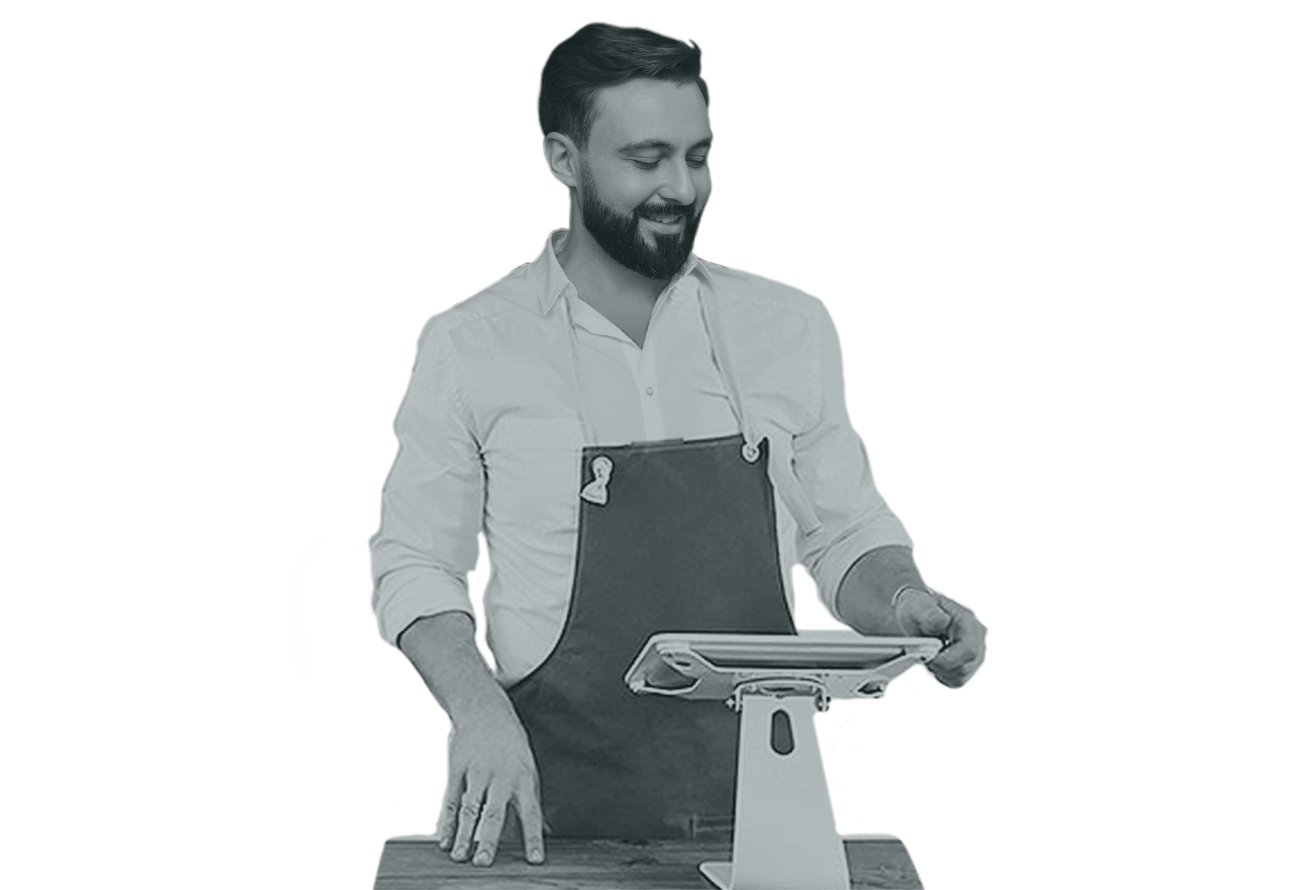 Dartcor Food Services - counter person at digital register